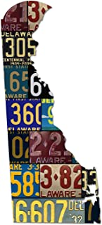 product image for DELAWARE License Plate Cut Map Sign, THE FIRST STATE Metal Sign Home Decor Wall Art Garage Art UV Printed On Dibond AluminumRustic Sign Birthday Gift Patriotic Sign Holiday Gift