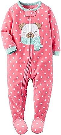 002e8a5c1131 Amazon.com  Carter s Girl s 3T Pink Dot Winter Pug Puppy Dog Fleece ...