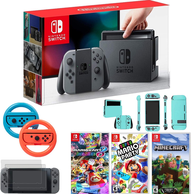 Amazon.com: Nintendo Switch Console Gray Joy Con+Mario Kart ...