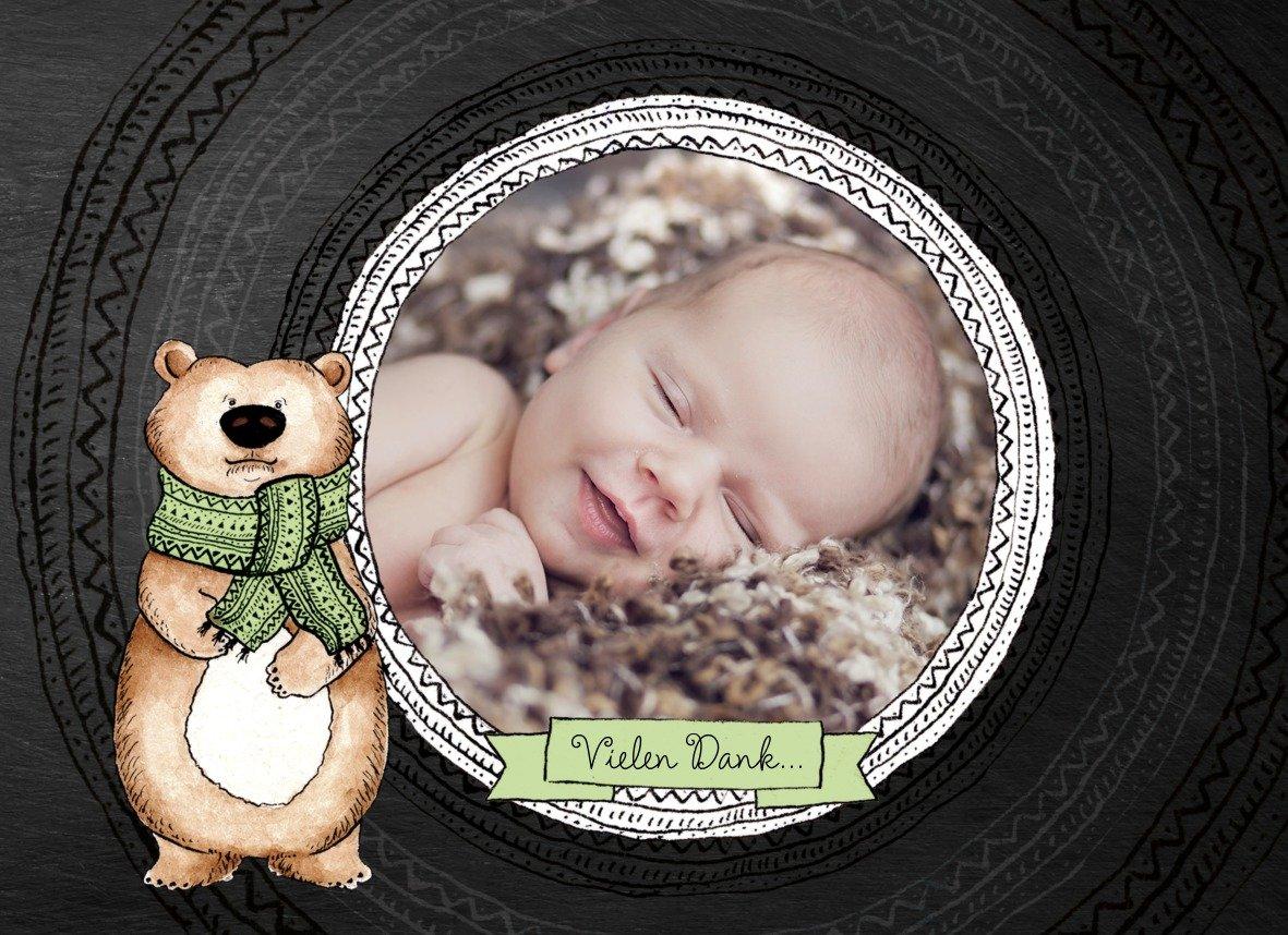 Kartenparadies Danksagung für Geburt Baby Dankeskarte Vintage Bär, Bär, Bär, hochwertige Danksagungskarte Baby inklusive Umschläge   100 Karten - (Format  148x105 mm) Farbe  MattBlau B01N5V8LAP | Angenehmes Gefühl  | Die Farbe ist sehr auffällig  | 45e5f9