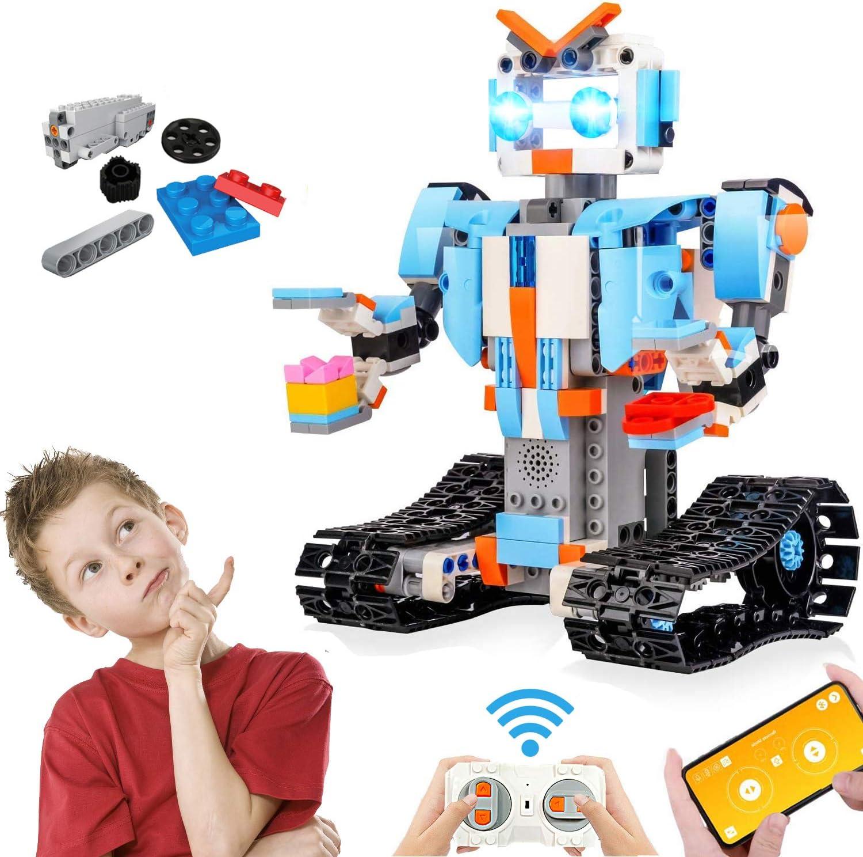 Kit de Juguetes Stem de 351 Piezas, Juego de Robots Educativos de Control Remoto para Niños, para Niños y Niñas de 8 años en Adelante, Robótica Recargable DIY Construye Kits de Aprendizaje