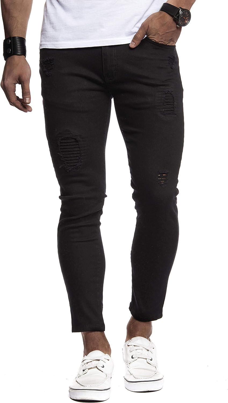 Leif Nelson Jeans da Uomo Pantaloni Jean LN-9100