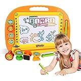 Ardoises Magiques Tableau - Doodle Pro Sketch 8 couleurs Zone Artisanat Art Erasable Toy pour enfants Ensemble de compétences pour tout-petits avec 4 timbres et 1 stylo