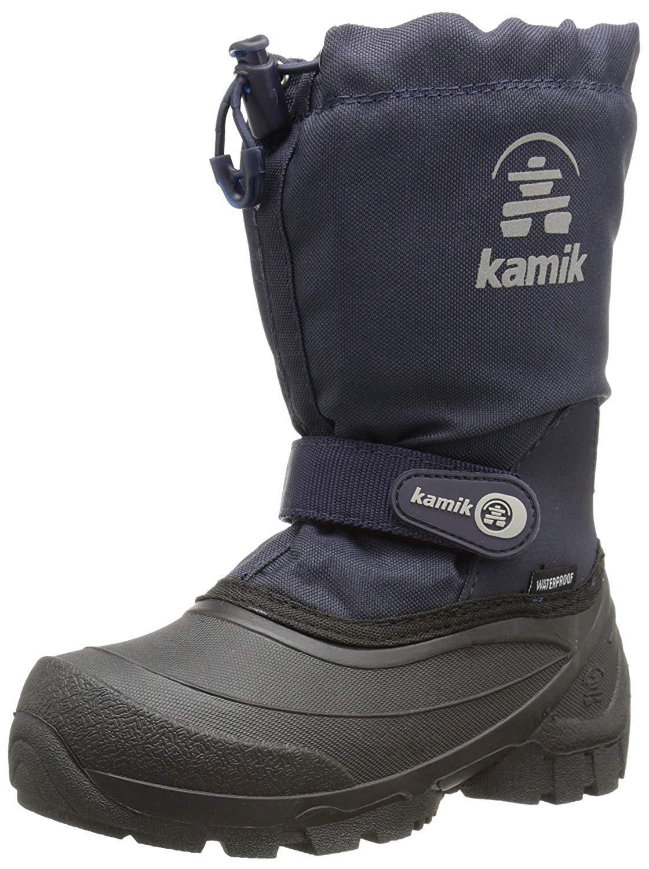 Kamik Snoday Insulated Winter Boot (Toddler/Little Kid/Big Kid), Dark Navy, 12 M US Little Kid by Kamik (Image #6)