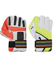 Puma Evospeed 1 Indoor Wicket Keeping Gloves 2016, Lava Blast/Safety Yellow, ,