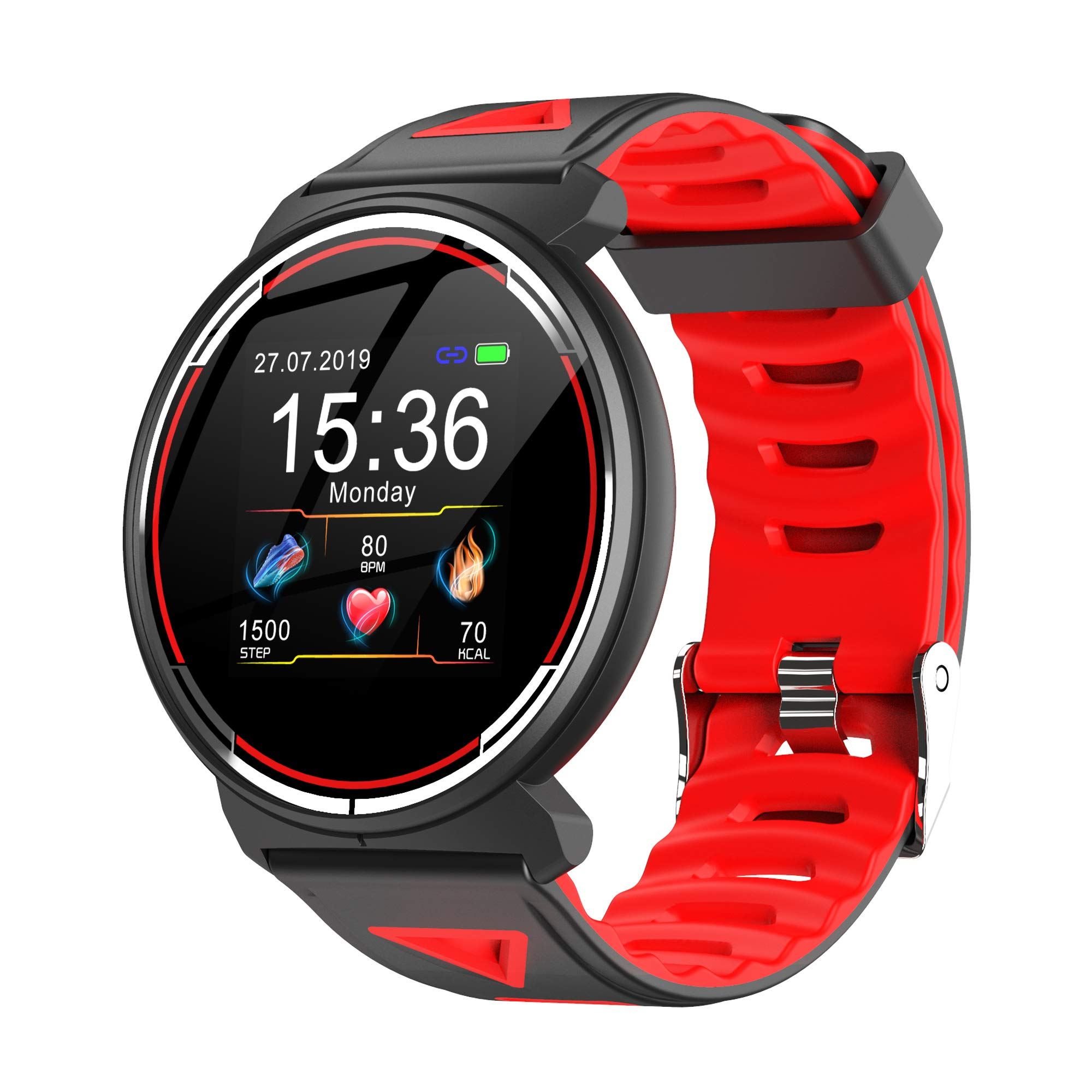 Smart Watch for Android iOS Phones, AIVEILE All-Rounder Version Activity Fitness Tracker Bluetooth Bracelet Waterproof Smartwatch with Blood Pressure Monitor Compatible Apple iPhone for Men Women by A I V E I L E