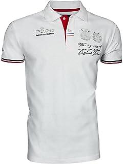 27eb243c912f88 Trisens Poloshirt Sommer Herren Party T-Shirt Print Hemd Cotton Polohemd