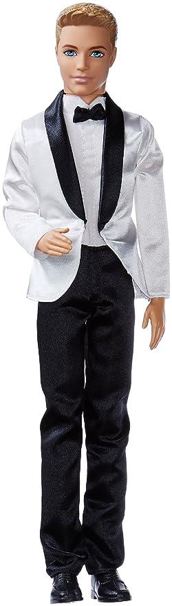 Barbie Muñeca, Ken con traje de novio, color negro y rosa (Mattel BCP31): Amazon.es: Juguetes y juegos