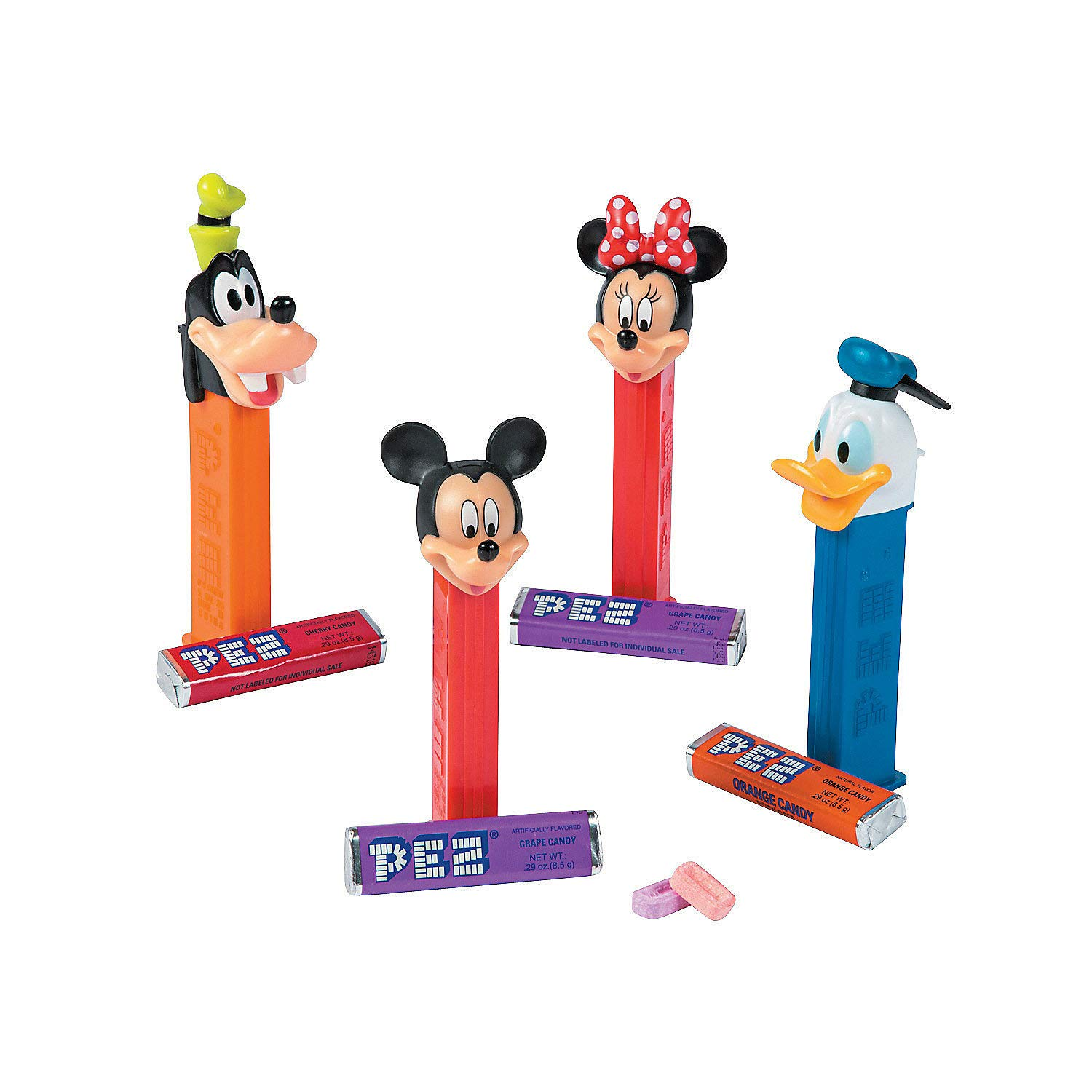 Fun Express - Mickey Mouse Pez Assortments for Party - Hard Candy - Dextrose - Party - 12 Pieces by Fun Express