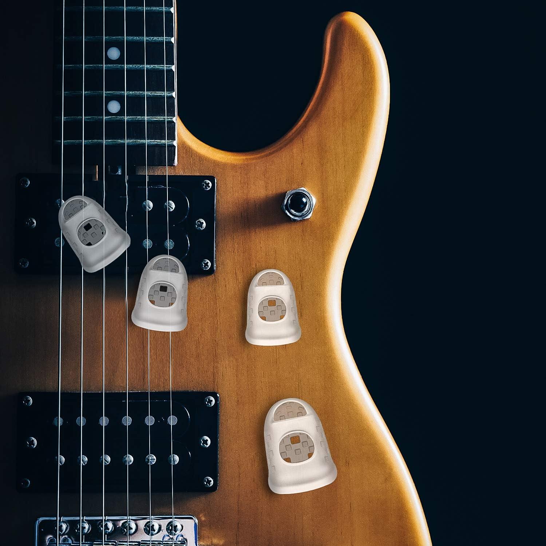 5 Tailles Protecteurs de Bout du Doigt de Guitare Capsules de Protection des Doigts pour Instruments /à Cordes Comme Ukulele Basse Prot/ège-Doigts de Guitare en Silicone 40 Pi/èces, Bleu Outremer