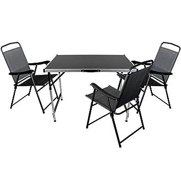 Juego de 4 camping Sillas para mesa plegable 100 x 60 cm + 3 ...
