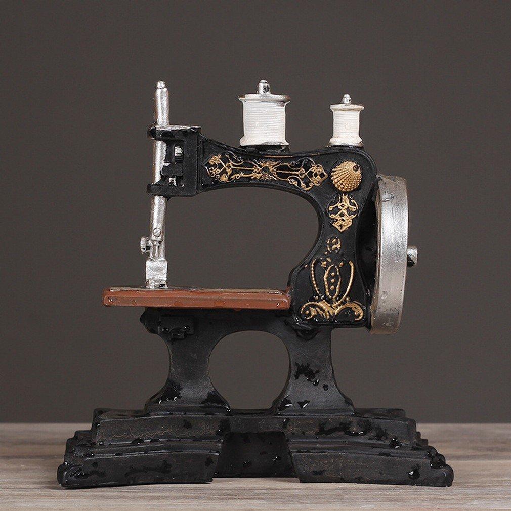 H.L LH Máquina de Coser Antigua Europea Adornos de Café Modelo de Resina Retro Tienda de Ropa Fotografía Decorativa Accesorios de la Foto,A: Amazon.es: ...