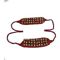 Ghungroo dancing ghunghroo bells Red soft pad pair Three line ghungroo (30 + 30) Classical Dance Accessories Kathak Big…