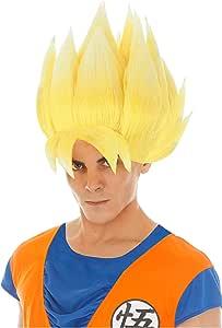 Chaks Dragon Ball Peluca Goku Super Sayajin Accesorio Traje Amarillo
