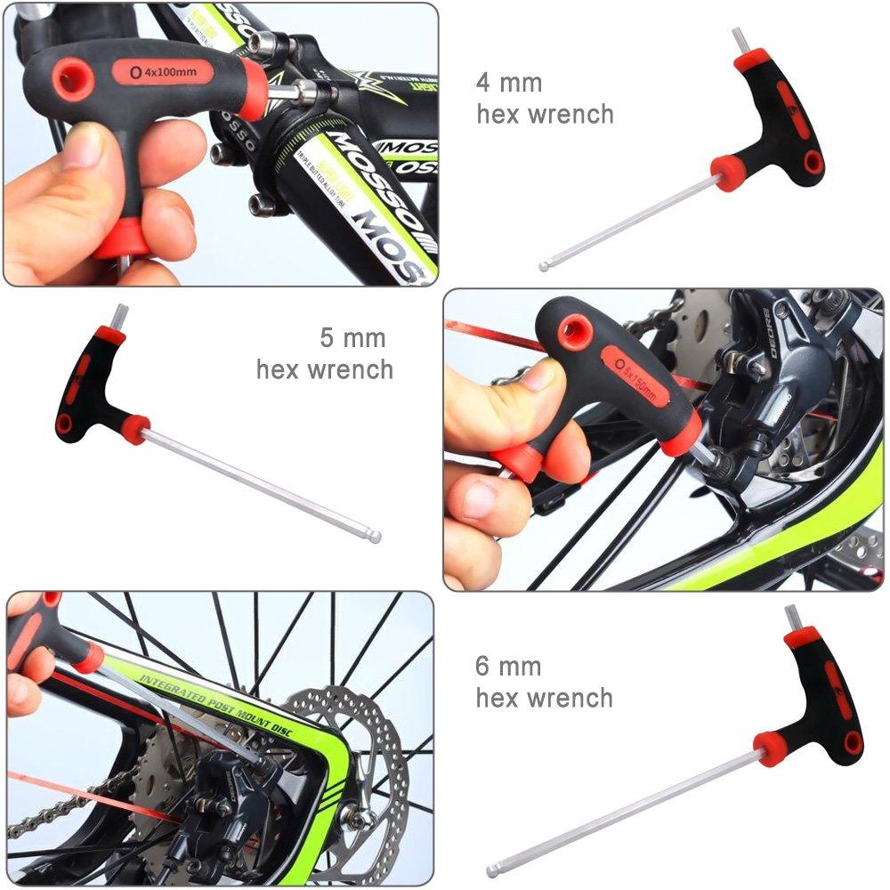 Acekit 4/5/6mm T-Handled Energe Saving Hex Wrench Set for Bike Pedal Handlebar Disc Brake Mount Repair by Acekit (Image #5)