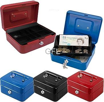 Caja de metal de acero de seguridad para dinero en efectivo, con soporte de 4,6,8,10,12 pulgadas.: Amazon.es: Bricolaje y herramientas