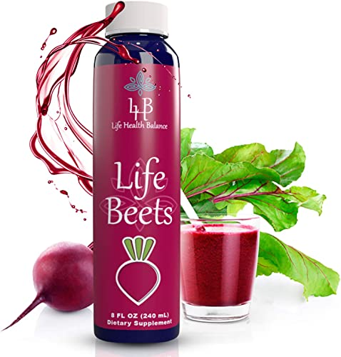 Life Beets, Circulation Superfood Concentrated Beet Powder Nitric Oxide Boosting Premixed Supplement, 8 Ounce