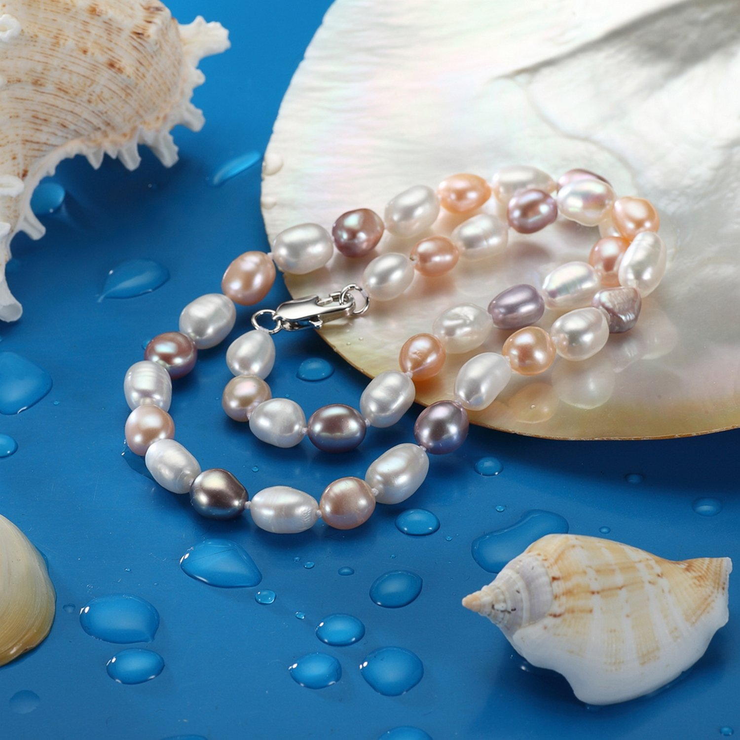 CS-DB Pendants Gargantilla Baroque Pearl Silver Necklaces