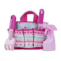 Melissa & Doug 16702 Sunny Patch Pretty Petals Gardening Tote Set with Tools, Multicolour