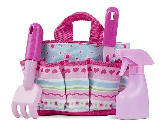Borsa tessuto giardinaggio con accessori in legno//metallo giocattolo per bambini