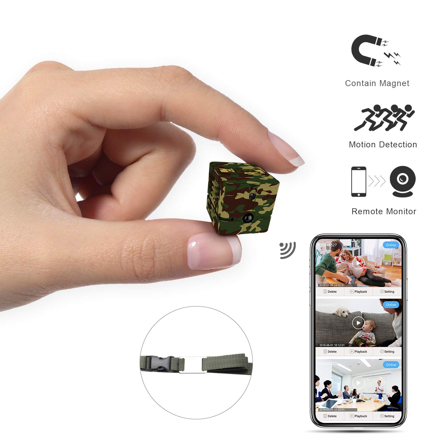 Mini Spy Camera Wireless Hidden Camouflage