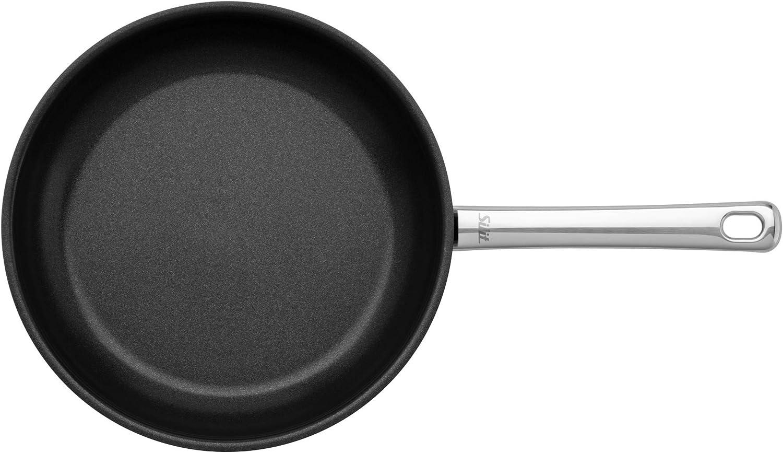 Induktion 24 cm PFOA-frei Edelstahlgriff Edelstahl beschichtet Silit Calabria Bratpfanne f/ür schonendes Braten