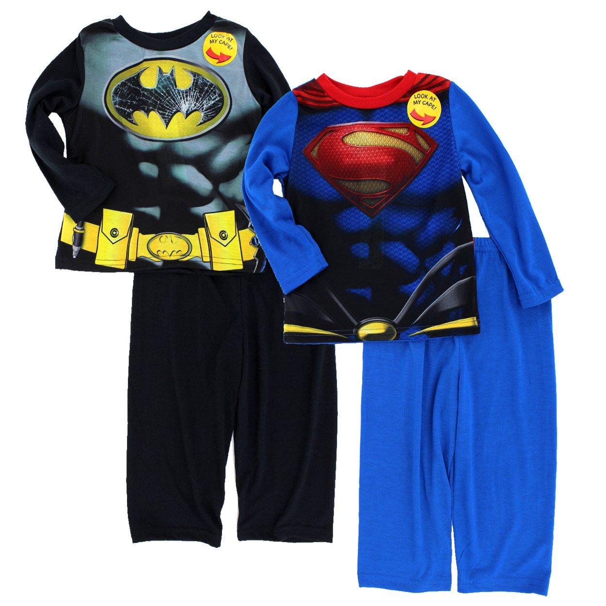 Amazon.com  Batman v Superman Toddler 2fer Poly Pajamas Set (4T ... 7e04d725c