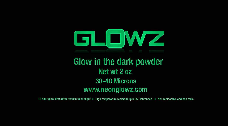 amazon com glowz glow in the dark pigment powder 2 ounce neon green