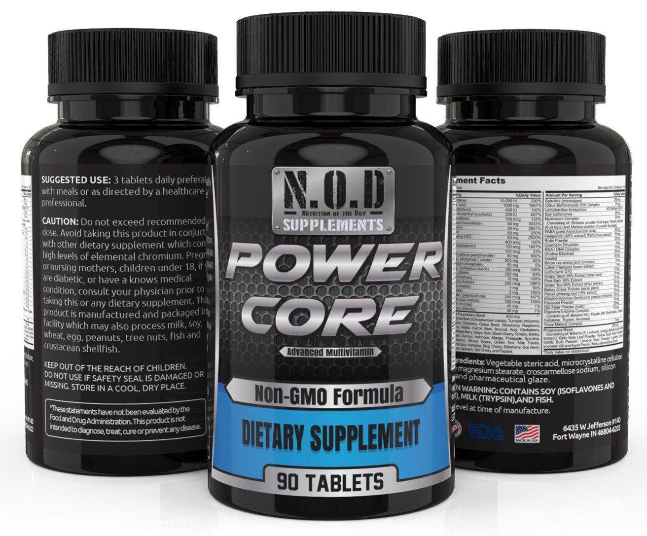 Amazon.com: Power Core Advanced Daily Multivitamin (90 ...