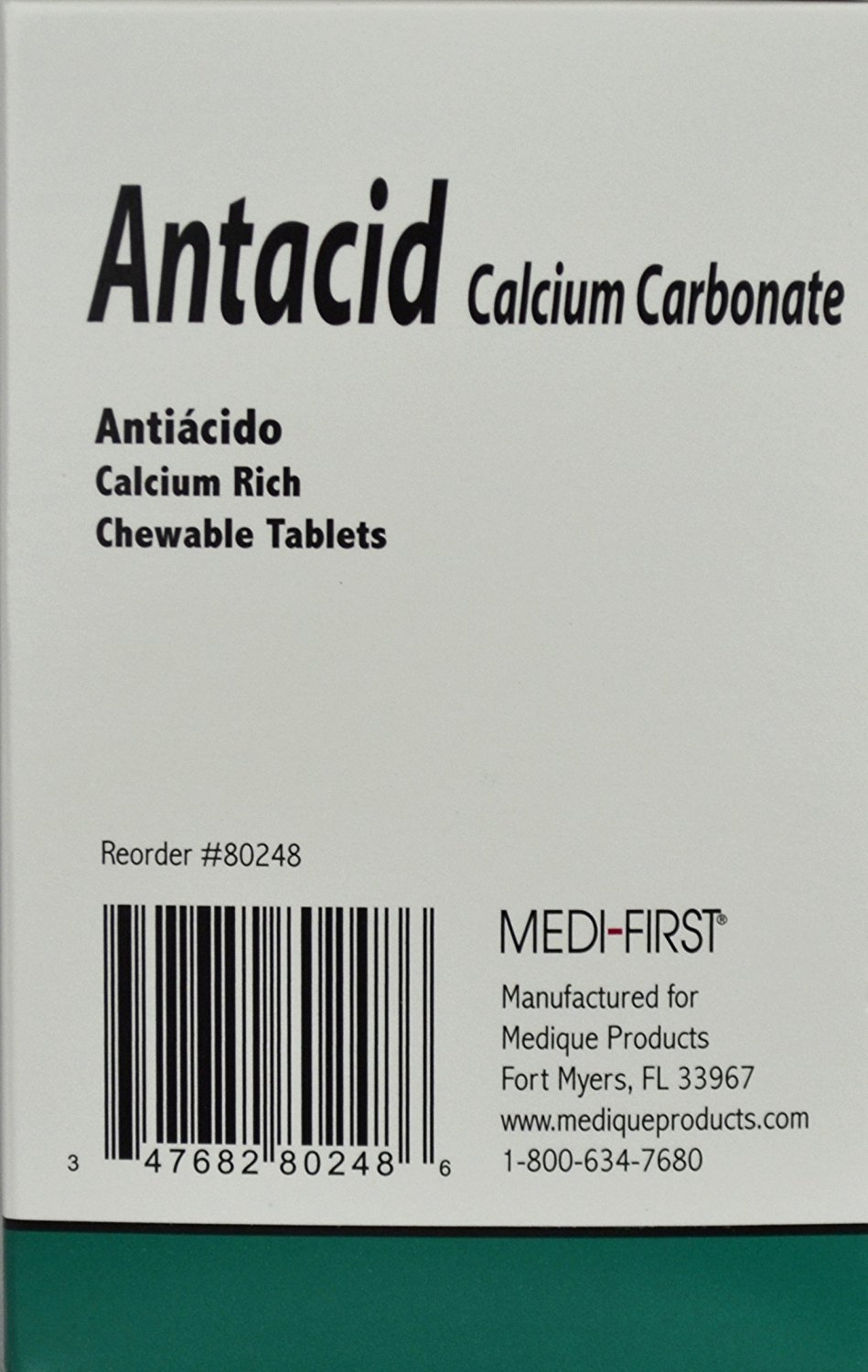 Amazon.com: Medi-First Antacid 420mg Tablets - 1/Box of 250 (125x2): Health & Personal Care