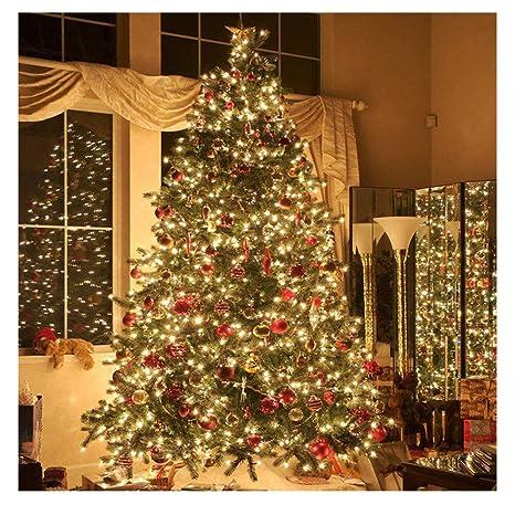 20 Ft Christmas Tree.Amazon Com 2pcs 6m 20ft 40 Led Bulbs Fairy String Strap