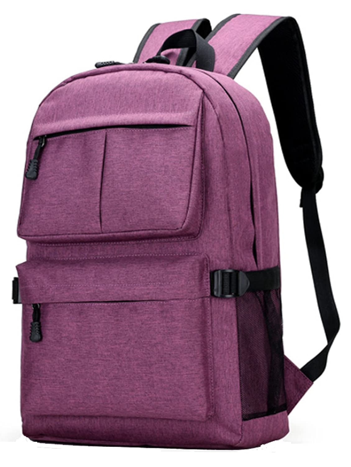 Purple LOUHH Multifunctional USB Charging Backpack Large Capacity Oxford Cloth School Bag Computer Bag,bluee