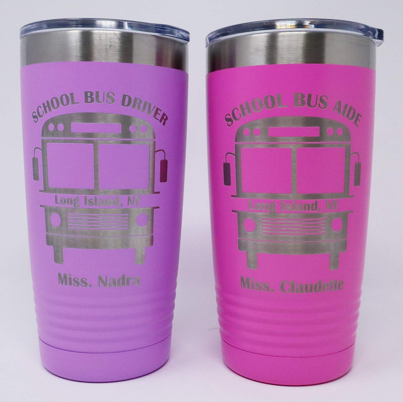 School Bus Driver//Aide Personalized Engraved Insulated Stainless Steel 20 oz Tumbler