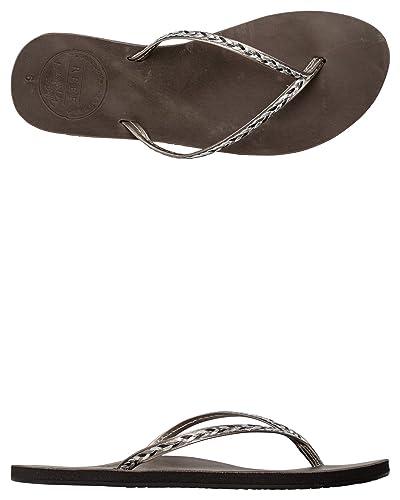d7c0614b7f1bb Reef Women s Leather Uptown Braid Flip Flops  Amazon.co.uk  Shoes   Bags
