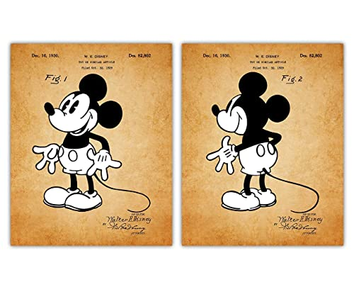 Mickey Mouse Print Christmas Gifts for Her Movie Stars Film Memorabilia Gifts for Disney Collectors Christmas Gifts for Him