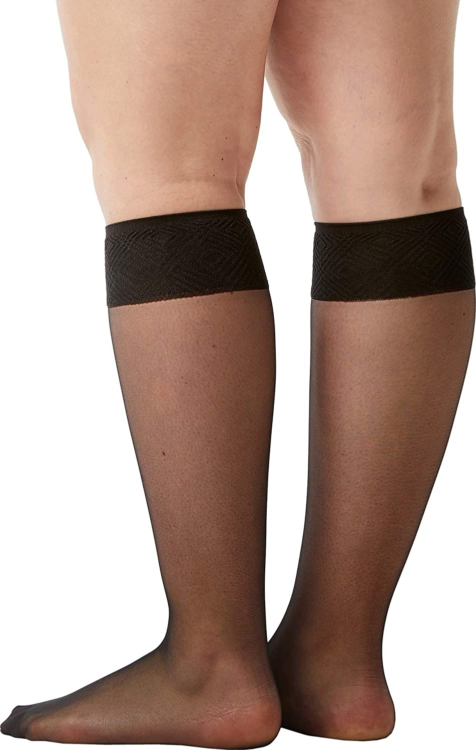 28e99726550f5 Spanx Women's Sheer Hi-Knee Socks - Two Pack! Black One Size at Amazon  Women's Clothing store: