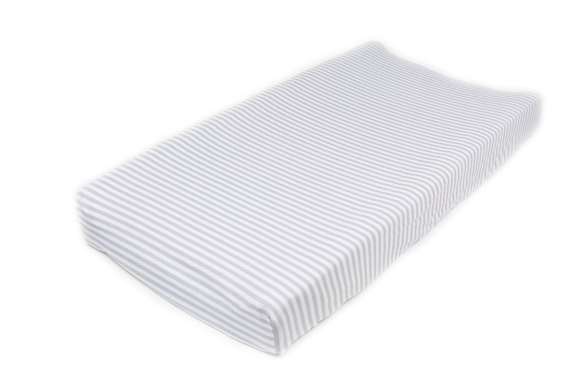 Cotton Diaper Changing Pad Cover 2 Pack Stripes & Clouds by Mumby by Mumby (Image #4)