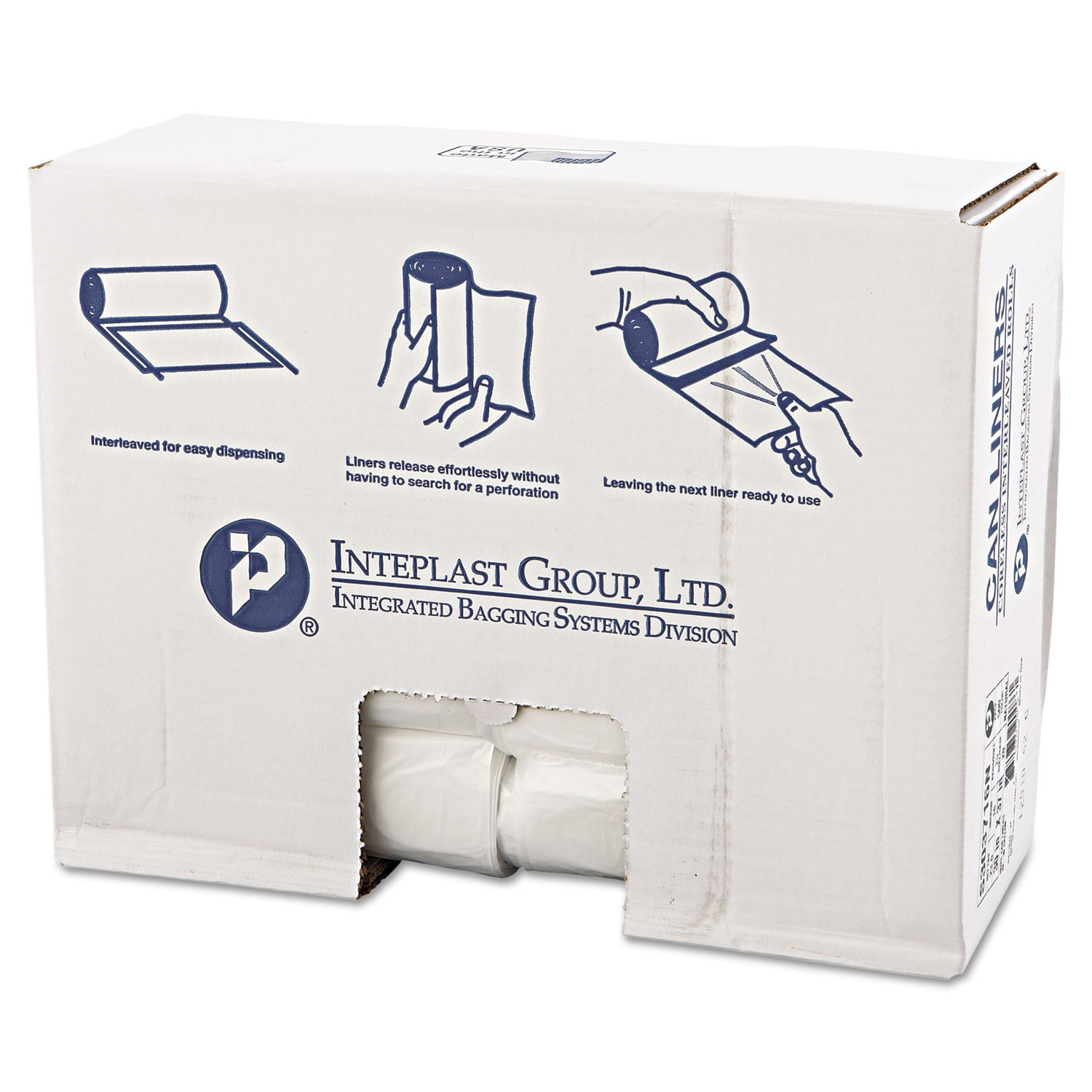 High-Density Can Liner, 30 x 37, 30gal, .63mil, Clear, 25/Roll, 20 Rolls/Carton