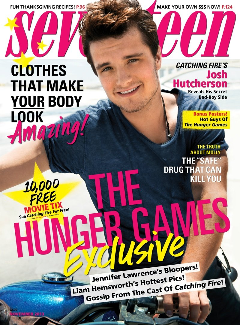 Seventeen Magazine (November 2013) Josh Hutcherson - Hunger Games Catching Fire pdf epub