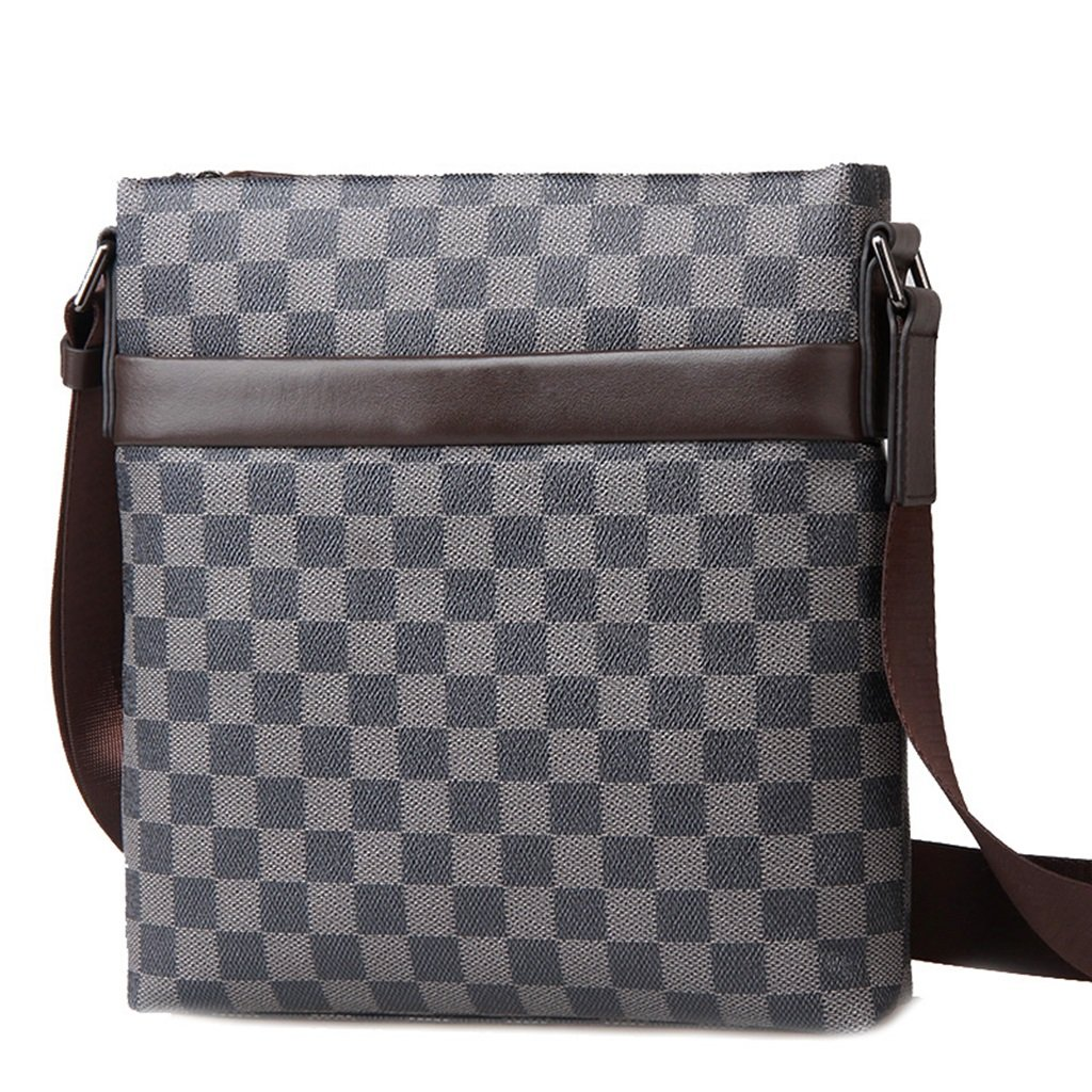 Lässige Mode Herren Taschen Schultertaschen Geschäft Taschen Vertikale Umhängetaschen (Farbe : A)