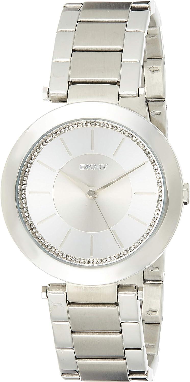DKNY Reloj analogico para Mujer de Cuarzo con Correa en Acero Inoxidable NY2285