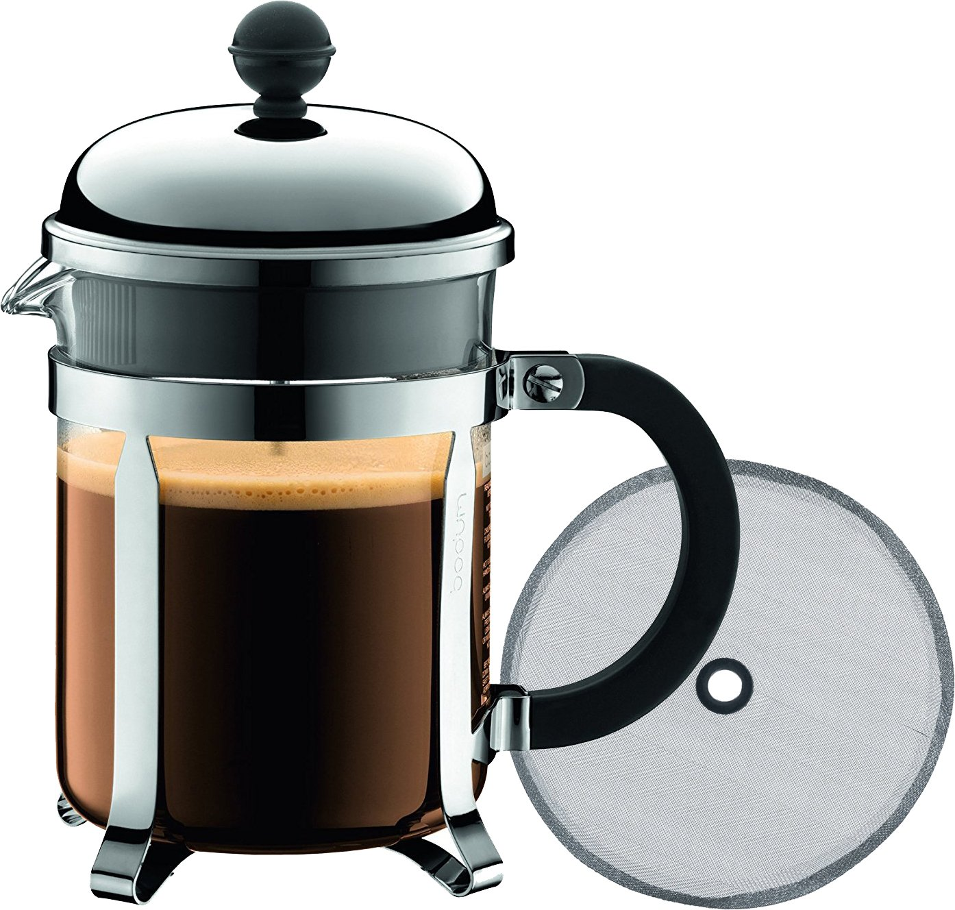 Bodum Chambord 4 taza cafetera de prensa francesa, 17-ounce ...