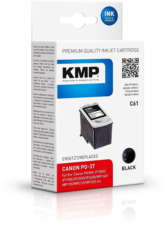 Cartucho de Tinta KMP C61 Sustituye PG-37 Negro: Amazon.es ...