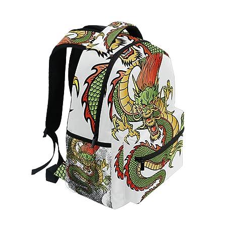 Amazon.com: lorvies dragón chino mochila Casual bolso de ...