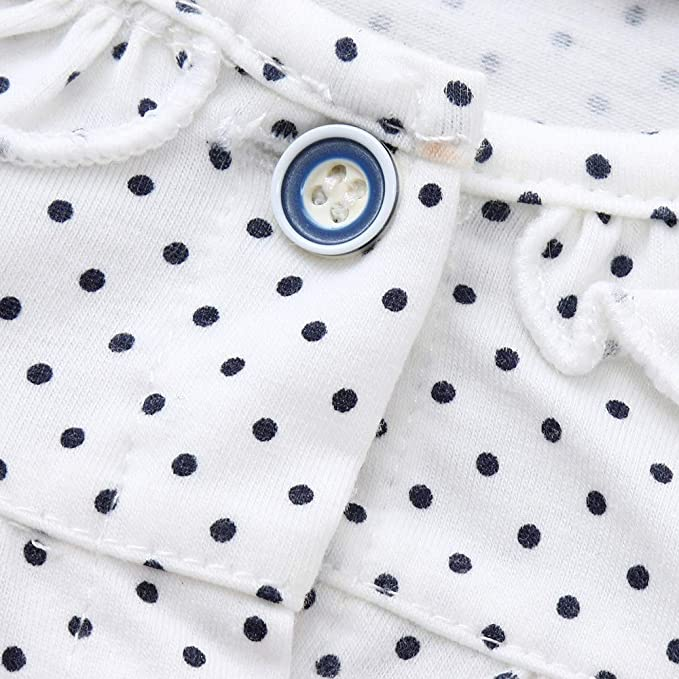 feiXIANG Ropa de bebé Niños Niñas Bebé Niñas Manga Larga Lunares Tops + Pantalones Pijamas Servicio de hogar Conjuntos Otoño Invierno Oferta Black Five ...