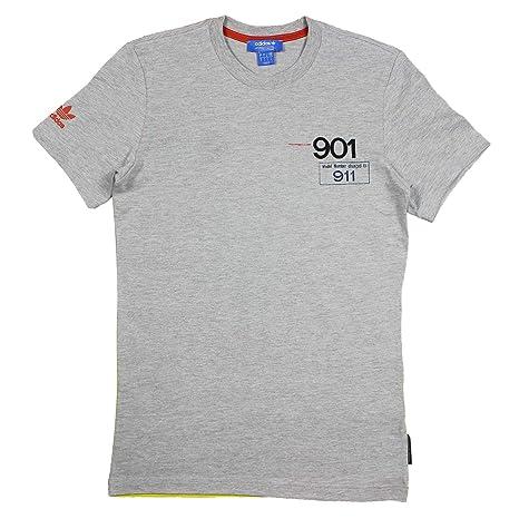 Adidas Originals Porsche 901 To 911 Camiseta Hombre AZ0896 Gris - Gris, M