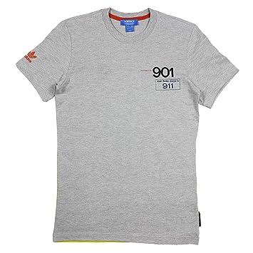 5b040ca2f82b7 adidas Originals Porsche 901 To 911 Camiseta Hombre AZ0896 Gris  Amazon.es   Deportes y aire libre