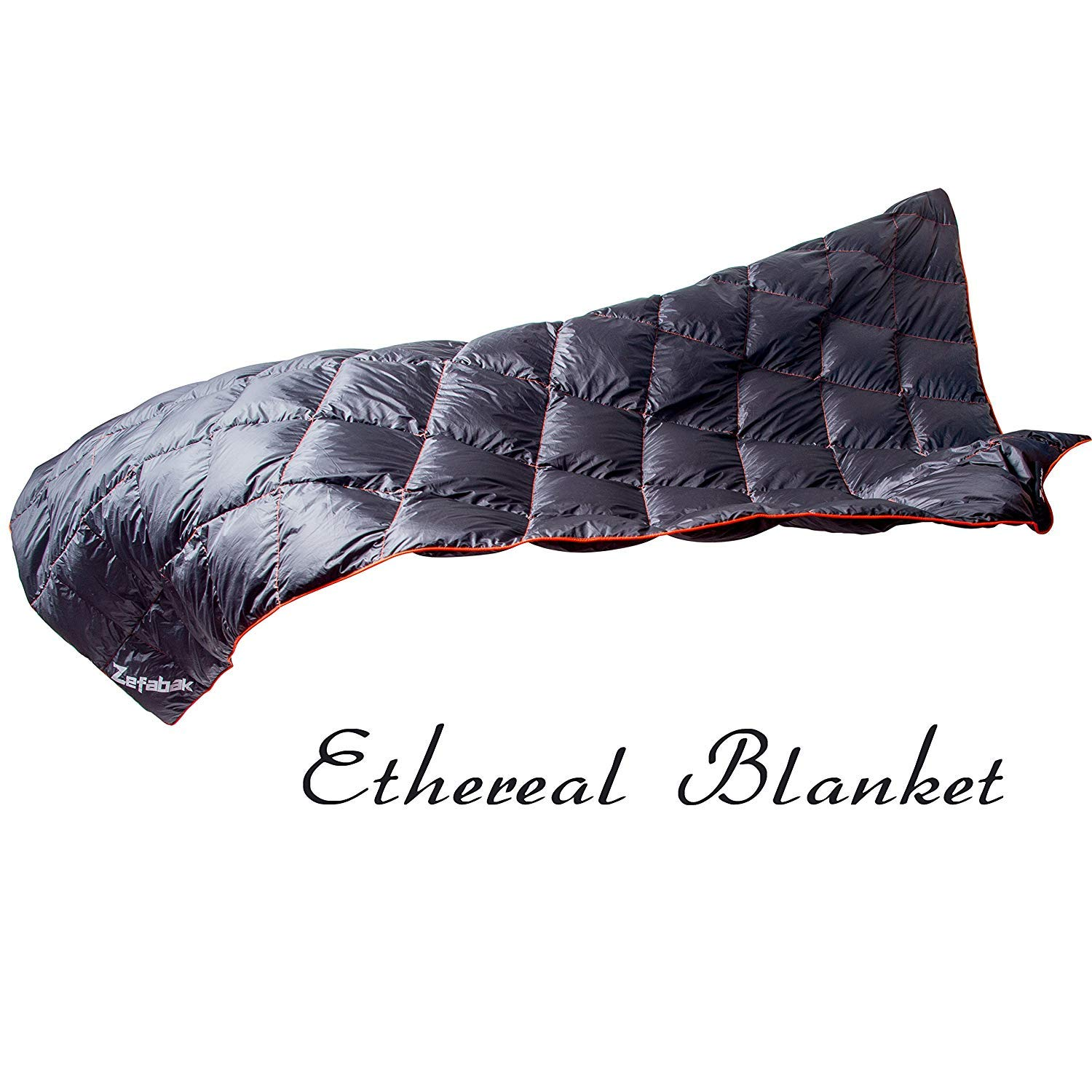 Black Down Blanket for Camping Indoor Outdoor Puffy 600 Fill Power Duck Down Cloudlet Blanket or Sleeping Bag Replacement