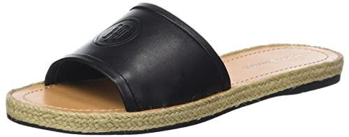 30d946afa65ee Tommy Hilfiger Women s Leather Flat Mule Open Toe Sandals  Amazon.co ...