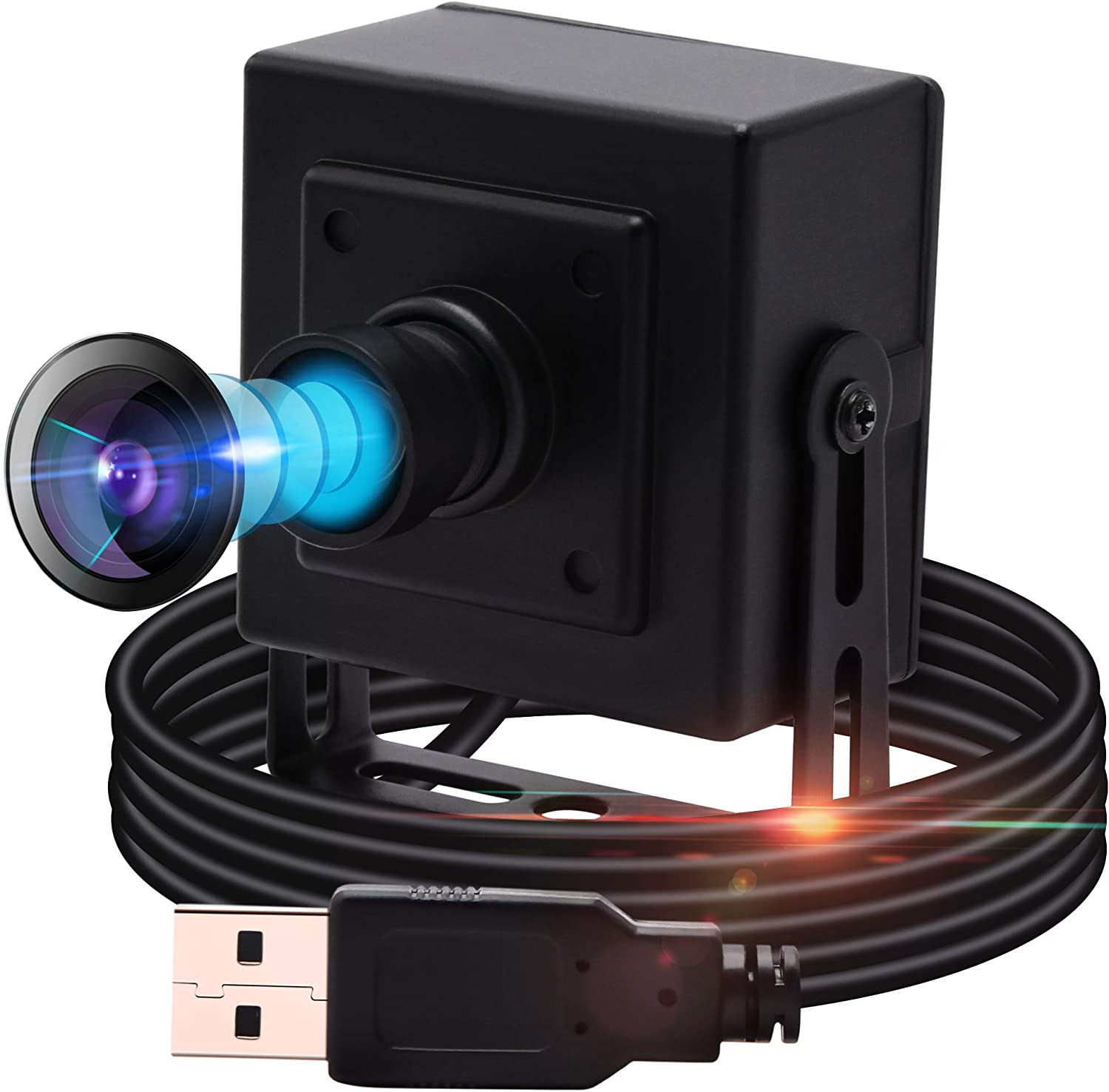 Usb Camera 13MP USB Webcam Mini Camera,Wide Angle Usb with Cameras High Definition Full HD USB Camera,100 Degree No-Distortion Camera USB with Sony IMX214,UVC Support,Plug&Play for Windows,Android,Mac